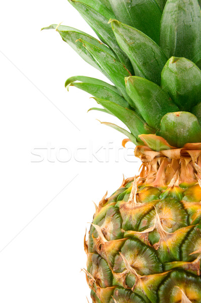 Fruits tropicaux juteuse ananas isolé blanche Photo stock © Givaga