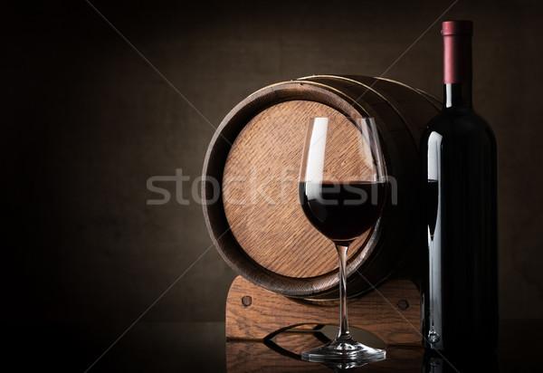 вино баррель коричневый древесины Сток-фото © Givaga