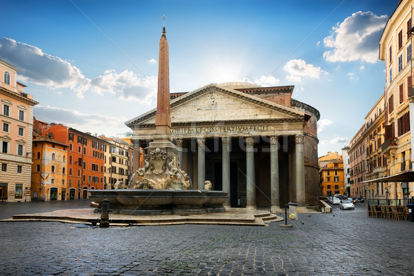 Pantheon on piazza Stock photo © Givaga