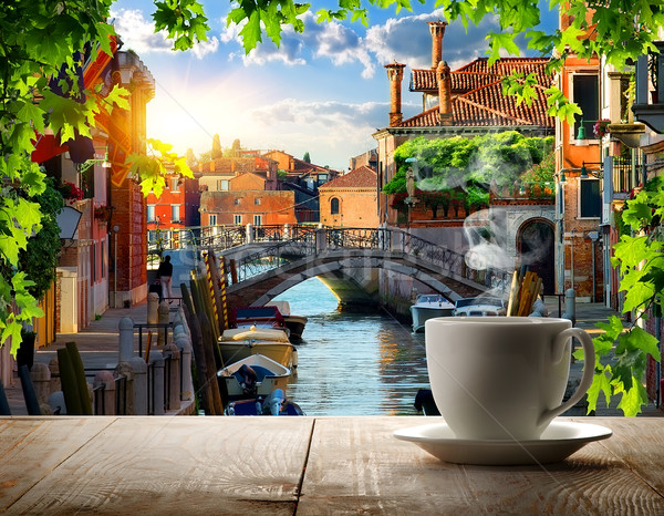 Coffee break in Venice Stock photo © Givaga
