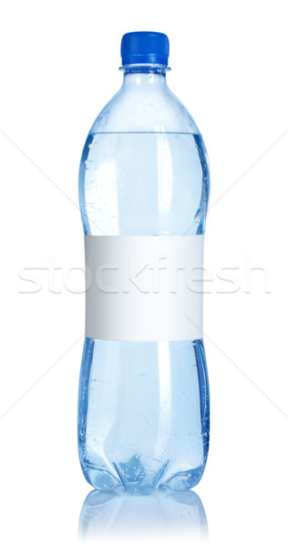 Soda water bottle with blank label Stock photo © Givaga