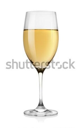 Białe wino szkła odizolowany biały strony wina Zdjęcia stock © Givaga