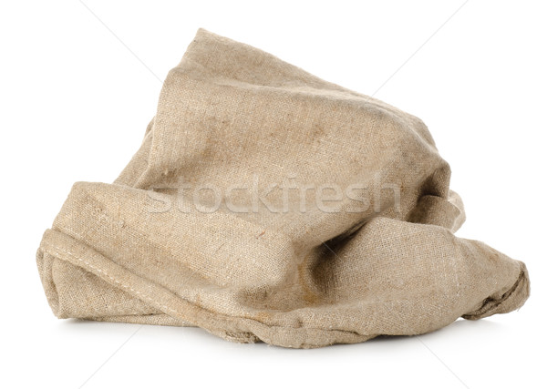 брезент сумку мешок изолированный белый текстильной Сток-фото © Givaga