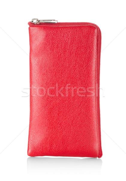 Vermelho caso telefone telefone móvel isolado branco Foto stock © Givaga