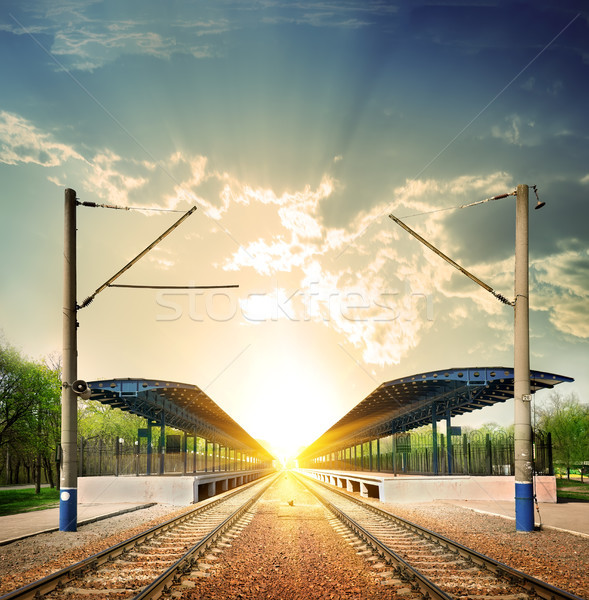 Railway station Stock photo © Givaga
