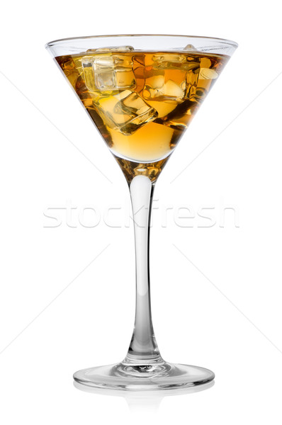 Brandy glace verre isolé blanche vin Photo stock © Givaga