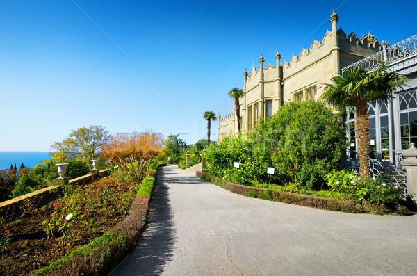 Castelo parque maravilhoso antigo palácio outono Foto stock © Givaga