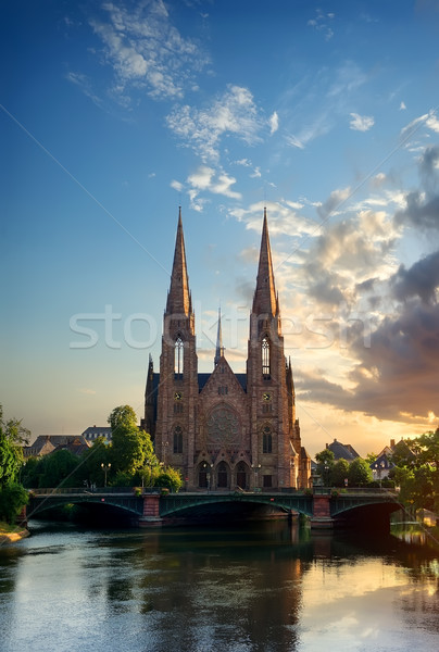 Church of Saint Paul Strasbourg Stock photo © Givaga