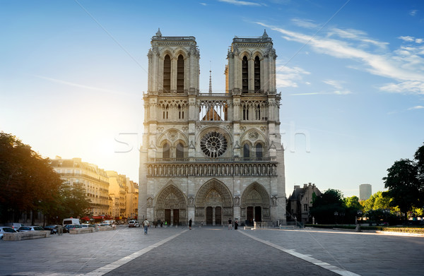 Facciata Parigi mattina Francia strada Foto d'archivio © Givaga
