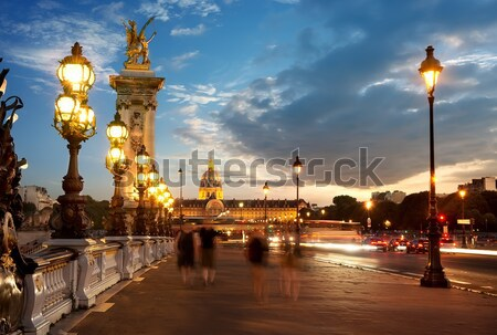 Alexander III bridge Stock photo © Givaga