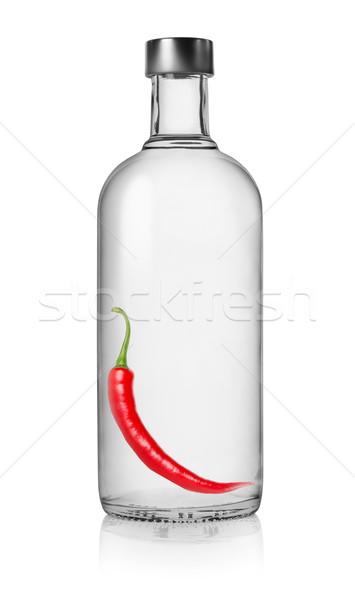 Peper wodka fles geïsoleerd witte Stockfoto © Givaga