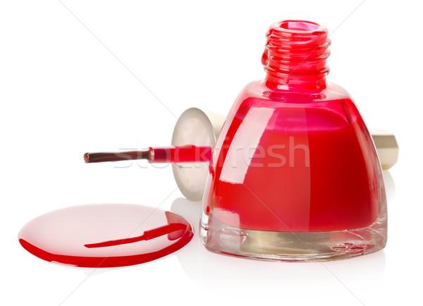 マニキュア ブラシ 孤立した 赤 白 ボトル ストックフォト © Givaga