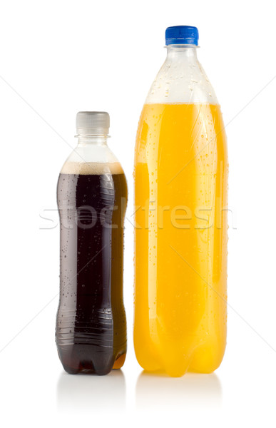 Dois garrafas soda isolado branco Foto stock © Givaga