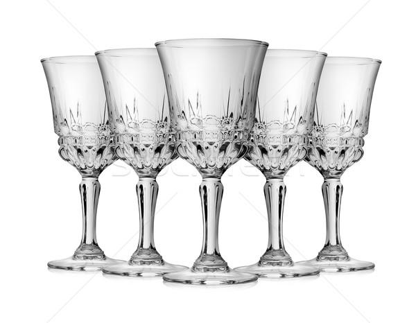 şarap kadehi boş yalıtılmış beyaz alkol kutlama Stok fotoğraf © Givaga