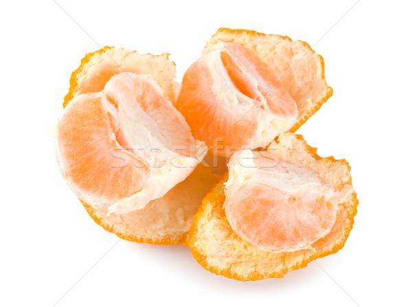 Pelé mandarin isolé blanche Photo stock © Givaga