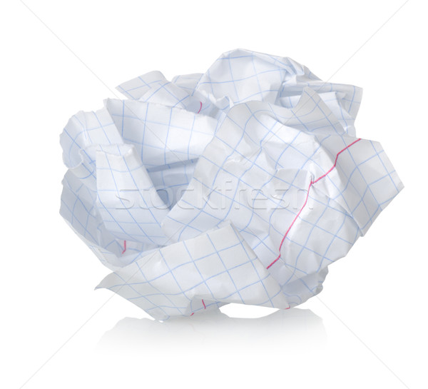 Crumpled sheet of paper Stock photo © Givaga