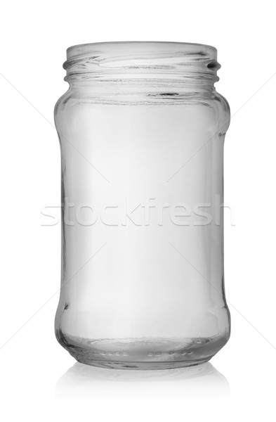 Vide jar isolé verre blanche contenant Photo stock © Givaga