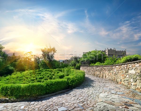 Garden near the castle Stock photo © Givaga