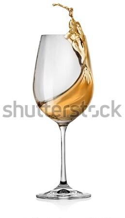 Splashes of white wine Stock photo © Givaga