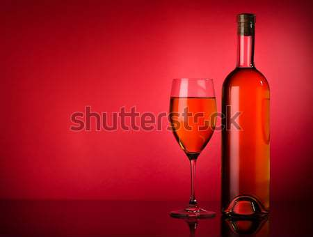 Garrafa vermelho champanhe textura abstrato luz Foto stock © Givaga