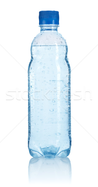 Plastic bottle of water isolated Stock photo © Givaga