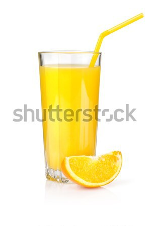 Jus d'orange verre isolé blanche Photo stock © Givaga