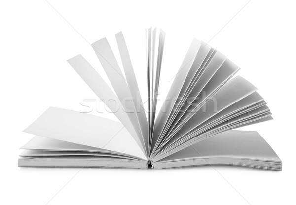 Book with fanned pages isolated Stock photo © Givaga