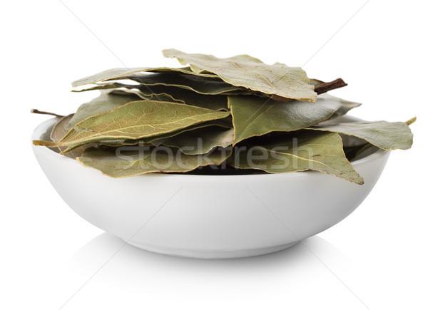 Zdjęcia stock: Pozostawia · tablicy · odizolowany · biały · żywności · zielone