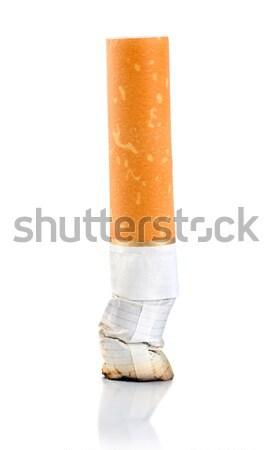 Cigarrillo trasero aislado blanco Foto stock © Givaga