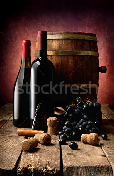 Wine theme in photo Stock photo © Givaga