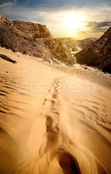 Mountains and sand dunes Stock photo © Givaga