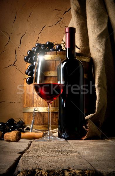 вино глина стены винограда погреб вечеринка Сток-фото © Givaga