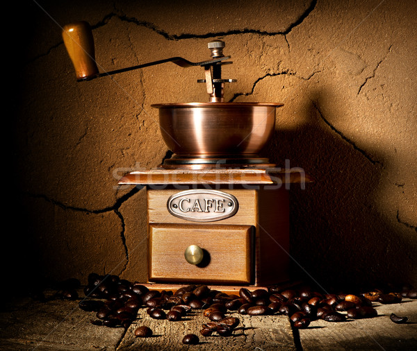 Wooden coffee mill Stock photo © Givaga