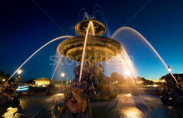Illuminated Fountain de Mers Stock photo © Givaga