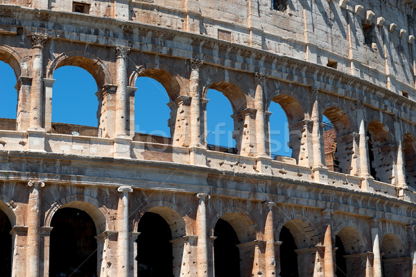Arches of Colosseum Stock photo © Givaga