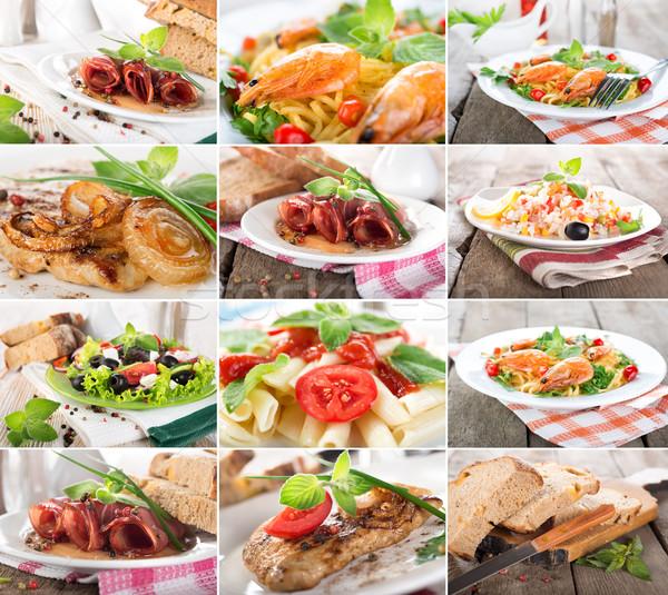 Collage food Stock photo © Givaga