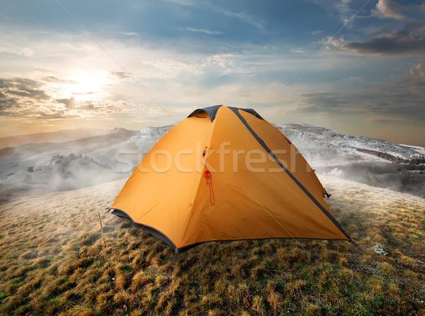 Tourist tent in mountains Stock photo © Givaga