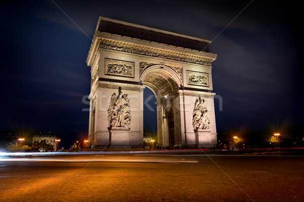 Arc de triomphe in evening Stock photo © Givaga