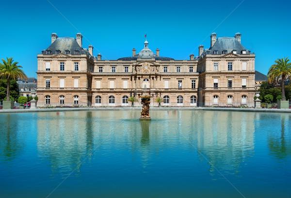 Luxemburg Parijs Frankrijk boom gebouw Stockfoto © Givaga