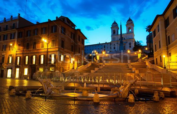 Spanish Steps and Fontana Stock photo © Givaga