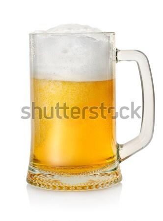 Bögre világos sör izolált fehér buli sör Stock fotó © Givaga