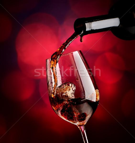 Wine on vinous background Stock photo © Givaga