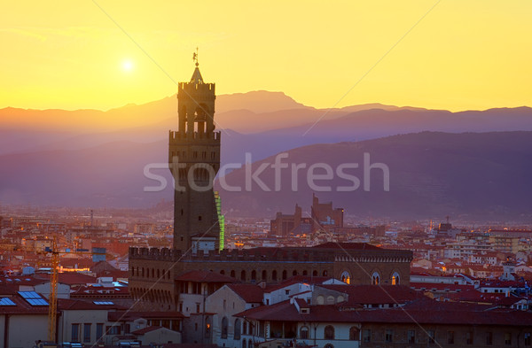 Plazzo Vecchio tower Stock photo © Givaga