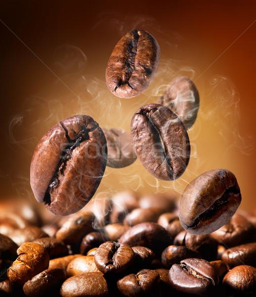 Magvak kávé pörkölt narancs űr bár Stock fotó © Givaga