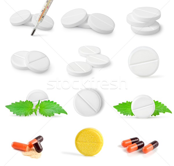 Collage of tablets Stock photo © Givaga