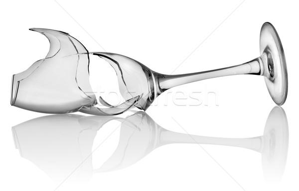 Broken wine glass isolated Stock photo © Givaga
