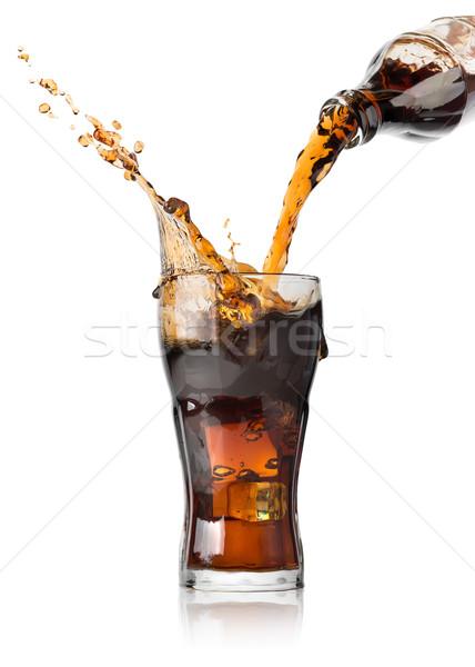 Cola бутылку стекла пить коктейль Сток-фото © Givaga