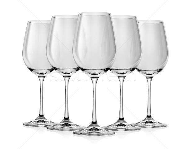 Empty wine glass Stock photo © Givaga