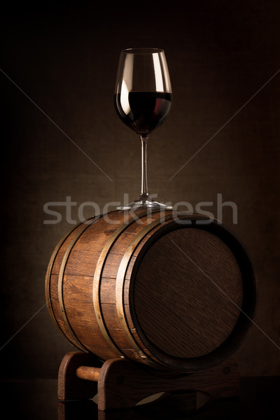 Wine on barrel Stock photo © Givaga