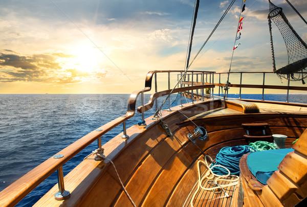 Sailboat and sea Stock photo © Givaga